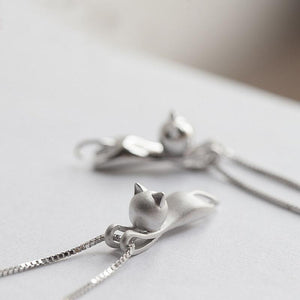 Cute Hanging Cat Necklace - Greyson&Co