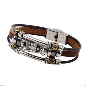 Rune Vintage Leather Bracelet FREE + Shipping - Greyson&Co