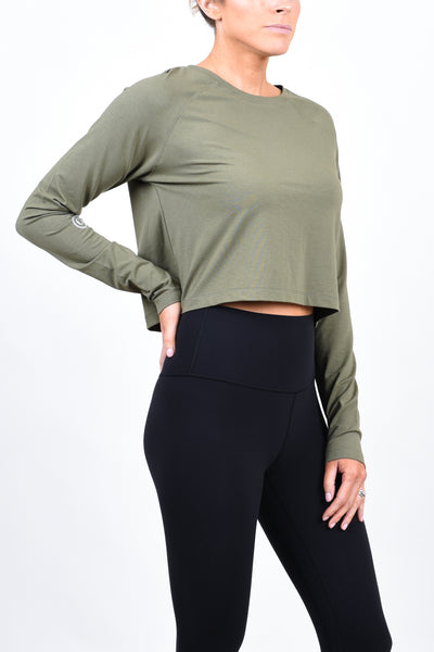 CG Crop Long Sleeve - Burnt Olive