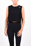 CG Crop Tank - Matte Black