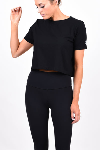 CG Crop Tee - Matte Black
