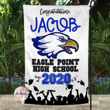 EAGLE POINT HIGH SCHOOL Personalized Graduation Yard Flag Sign - Graduation Garden Flag With Custom Name - Graduation Gift Idea - 2020 Graduate