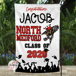 NORTH MEDFORD HIGH SCHOOL Personalized Graduation Yard Flag Sign - Graduation Garden Flag With Custom Name - Graduation Gift Idea - 2020 Graduate