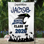 SOUTH MEDFORD HIGH SCHOOL Personalized Graduation Yard Flag Sign - Graduation Garden Flag With Custom Name - Graduation Gift Idea - 2020 Graduate
