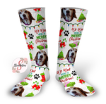 We WOOF You A Merry Christmas Dog Christmas Socks Personalized Face Design Socks - Christmas Socks - Pet Face Design Socks - Personalized Photo Socks - Picture Socks