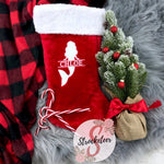 Custom Mermaid Christmas Stocking - Includes Custom Name