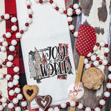 Joy To The World - Christmas Decor Hand Towel - Kitchen Accessories