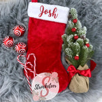 Traditional Christmas Stocking with Custom Name - Christmas Stocking - Includes Custom Name