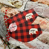 Fashion Face Cover - Lightweight Fabric Adult Size Face Cover - Reusable and Washable Face Cover - Dust Cover - Mama / Papa Christmas Plaid Mask