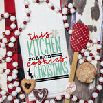 This Kitchen Runs On Cookies & Christmas - Christmas Decor Hand Towel - Kitchen Accessories
