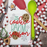 It's Cookie Baking Season - Christmas Decor Hand Towel - Kitchen Accessories