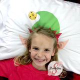 Christmas Elf Hat & Ears with Customized Name - Customized Bed Pillow - Christmas Eve Box Idea