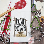 Love Came Down - Christmas Decor Hand Towel - Kitchen Accessories