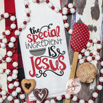 The Special Ingredient Is Jesus - Christmas Decor Hand Towel - Kitchen Accessories
