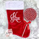 Custom Monogrammed Christmas Stocking - Includes Custom Letter & Name
