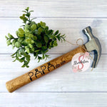 PAPA with Custom est. Date - Customized Father's Day Hammer - Pregnancy Announcement - Includes Custom Date - Customized Hammer