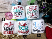 Christmas Toilet Paper Gag Gifts - White Elephant Gift -  Toilet Paper with Vinyl Sayings