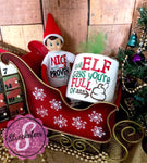 Christmas Toilet Paper Gag Gifts - The Elf Says You're Full Of POO - White Elephant Gift -  Toilet Paper with Vinyl Sayings
