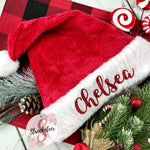 Traditional Christmas Santa Hat with Custom Name - Christmas Hat - Includes Custom Name