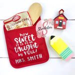 How Sweet It Is To Be Taught By You - Potholder Gift Set - Teacher Gift