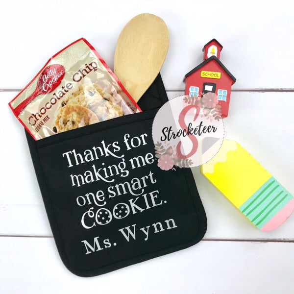 Thanks For Making Me One Smart Cookie - Potholder Gift Set - Teacher Gift