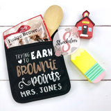 Trying To Earn Brownie Points - Potholder Gift Set - Teacher Gift