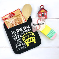 Thank You For Going The Extra Mile - Potholder Gift Set - Bus Driver Gift Teacher Gift