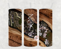 Leaf Camo Personalized Stainless Steel Tumbler with Straw & Lid