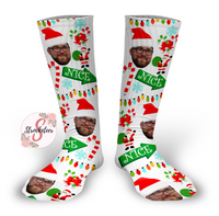 NICE Design Personalized Face Design Socks - Christmas Socks - Customized Face Design Socks - Custom Photo Socks - Picture Socks - Your Face On A Pair Of Socks
