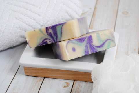 two blackberry sage soaps