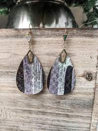 Teardrop Glitter Earring - IronFox Clothing