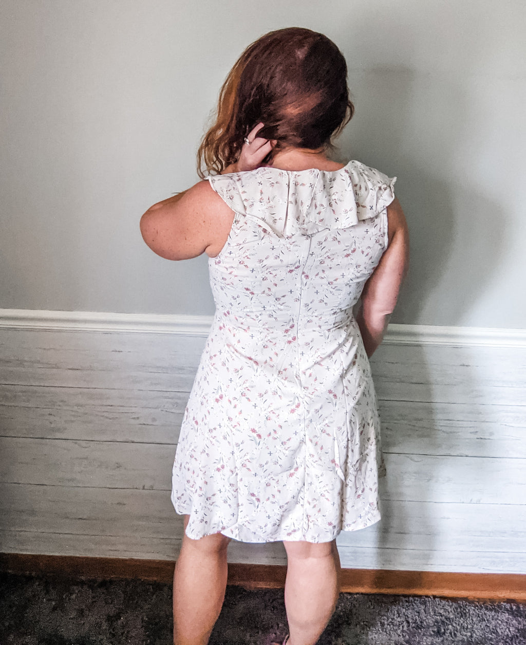 Ruffle Floral Dress - IronFox Clothing