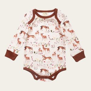 Organic Cotton Baby Bodysuit - Deer
