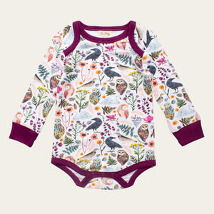 Organic Cotton Baby Bodysuit - Dream Birds
