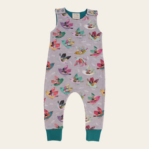 Organic Baby Harem Romper - Joy Flight
