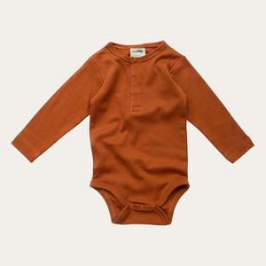 Long-sleeve Henley Bodysuit