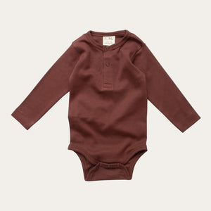 Organic Cotton Baby Bodysuit - Pinecone
