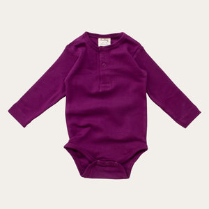Organic Cotton Baby Bodysuit - Plum