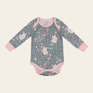 Organic Cotton Baby Bodysuit - Sleeping Fox