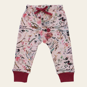 Organic cotton baby pants - Fable floral