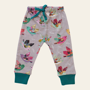 Organic cotton baby pants - Joy flight