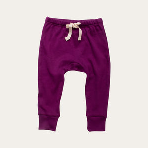 Organic Cotton Baby Pants - Plum