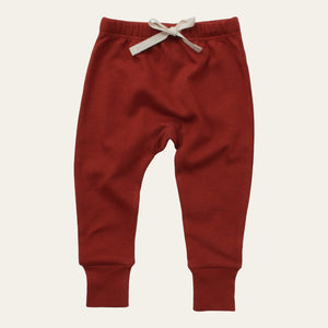 Drawstring Pants - Red Ochre