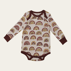 Organic Cotton Onesie - Earth Tone Rainbow