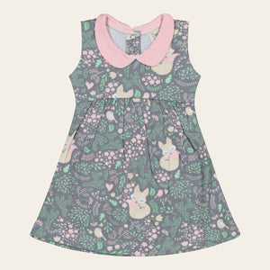 Organic Cotton Baby Dress - Sleeping Fox