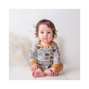 Organic Cotton Baby Bodysuit - Let's Go Camping
