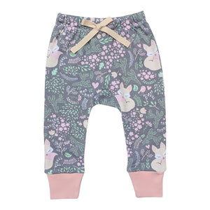 Organic Cotton Baby Pants - Sleeping Fox