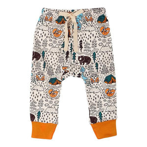Organic Cotton Baby Pants - Let's Go Camping