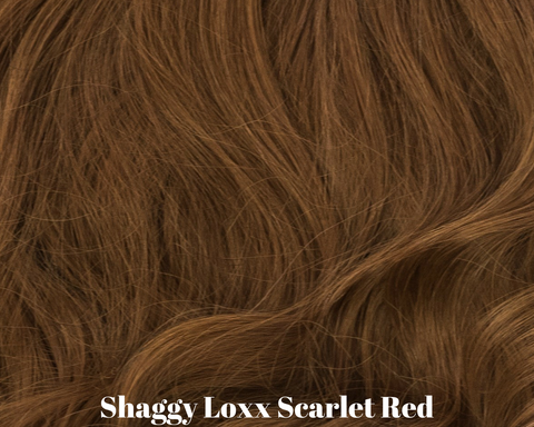 Scarlet red auburn brunette real human hair extensions
