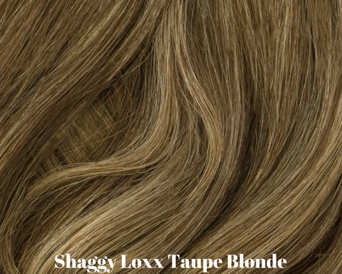 Taupe Blonde brown and blonde highlighted clip in hair extensions